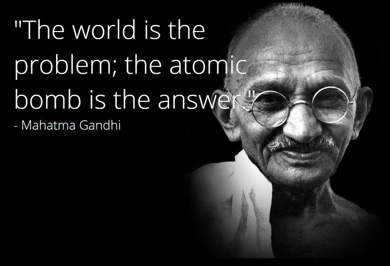 The world is the problem, the atomic bombs the answer